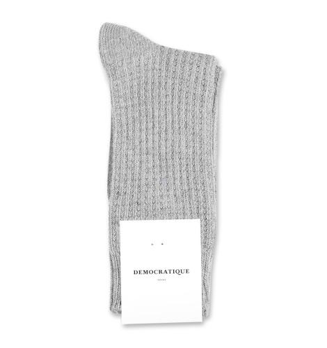Democratique Socks Relax Waffle Knit Supermelange 6-pack Light Grey Melange