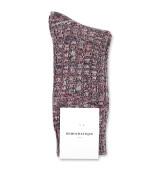 Democratique Socks Relax Schooner Knit Supermelange 6-pack Army - Bordeaux Red Wine - Off White - Navy