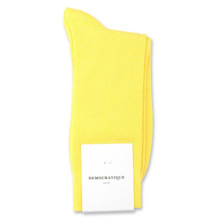 Democratique Socks Originals Champagne Pique 6-pack Yellow Sun