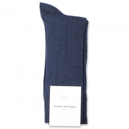 Democratique Socks Originals Fine Rib 6-pack New Blue