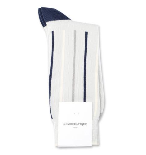 Democratique Socks Originals Latitude Striped 6-pack Silver / Navy / Stone / Off White