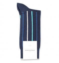 Democratique Socks Originals Latitude Striped 6-pack Navy / New Blue / Off White / Swimmingpool