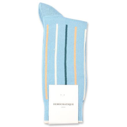Democratique Socks Originals Latitude Striped 6-pack Palm Springs Blue / Abricos / Benzin / Off White