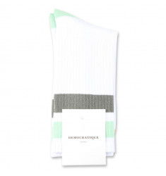 Democratique Socks Athletique Classique Stripes 6-pack Clear White / Abricos / Army / Pale Green