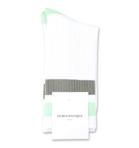 Democratique Socks Athletique Classique Stripes 6-pack Clear White / Abricos / Army / Pale Green