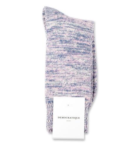 Democratique Socks Relax Chunky Flat Knit Supermelange 6-pack Off White / Soft Pink / New Blue