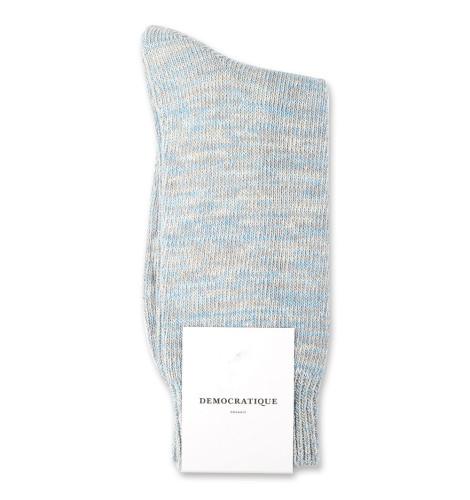 Democratique Socks Relax Chunky Flat Knit Supermelange 6-pack Soft Grey / Stone / Off White / Palm Springs Blue