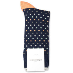 Democratique Socks Originals Polkadot 6-pack Navy / Abricos / Off White / Pale Green / Army