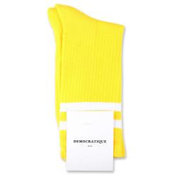 Democratique Socks Classique Oldschool Stripes 6-pack Yellow Sun / Clear White