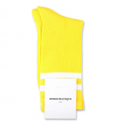 Democratique Socks Classique Oldschool Stripes 6-pack Yellow Sun / Clear White