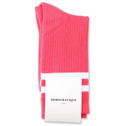 Democratique Socks Classique Oldschool Stripes 6-pack Watermelon / Clear White