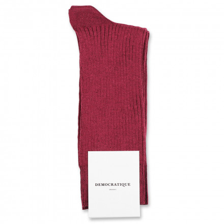 Democratique Socks Originals Fine Rib 6-pack Red Wine