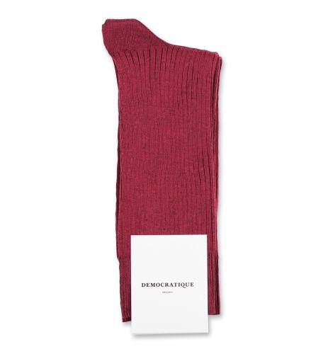 Democratique Socks Originals Fine Rib 6-pack Red Wine