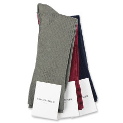 Democratique Socks Originals Fine Rib 6x3-pack Red Wine / Navy / Army