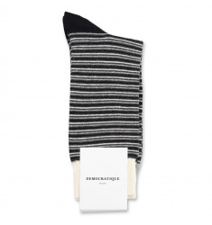 Democratique Socks Originals Ultralight Stripes 6-pack Charl Mel. / Black / Light Grey Mel. / Off White