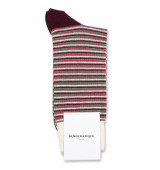 Democratique Socks Originals Ultralight Stripes 6-pack Army / Heavy Rosso / Light Rosso / Red Wine / Off White