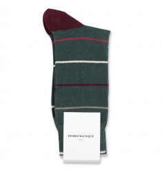 Democratique Socks Originals Spaced Stripes 6-pack Army / Heavy Rosso / Light Rosso / Red Wine / Off White