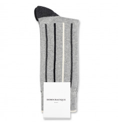 Democratique Socks Originals Latitude Striped 6-pack Light Grey Mel. / Off White / Black / Charcoal Mel.