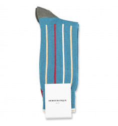 Democratique Socks Originals Latitude Striped 6-pack Petroleum / Light Rosso / Light Orange / Army / Off White