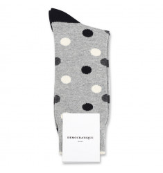 Democratique Socks Originals DotCom 6-pack Light Grey Mel. / Charcoal Mel. / Off White / Black