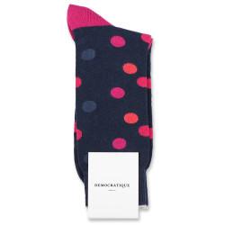 Democratique Socks Originals DotCom 6-pack Navy / Shaded Blue / Purple Plum / Wild Violet / Dark Red