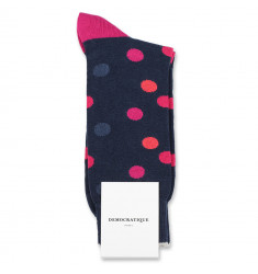 Democratique Socks Originals DotCom 6-pack Navy / Shaded Blue / Purple Plum / Wild Violet / Dark Red