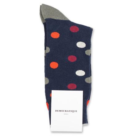 Democratique Socks Originals DotCom 6-pack Navy / Okker Orange / Red Wine / Army / Off White