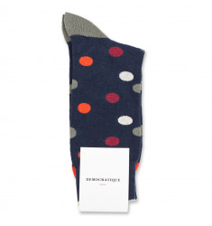 Democratique Socks Originals DotCom 6-pack Navy / Okker Orange / Red Wine / Army / Off White