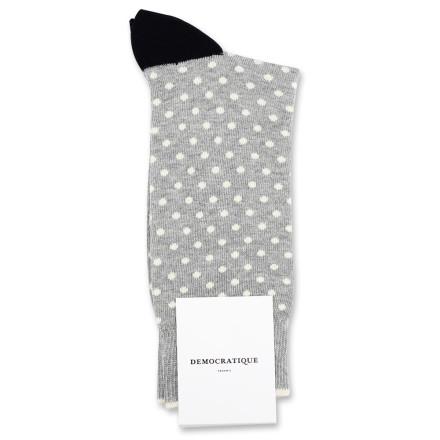 Democratique Socks Originals Polkadot 6-pack Light Grey Mel. / Off White / Black / Charcoal Mel.