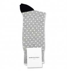 Democratique Socks Originals Polkadot 6-pack Light Grey Mel. / Off White / Black / Charcoal Mel.