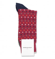 Democratique Socks Originals Polkadot 6-pack Red Wine / Okker Orange / Army / Navy / Off White