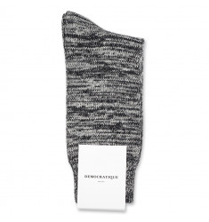 Democratique Socks Relax Chunky Flat Knit Supermelange 6-pack Black / Light Grey Mel. / Off White / Charcoal Mel.