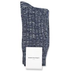 Democratique Socks Relax Schooner Knit Supermelange 6-pack Navy / Shaded Blue / Off White