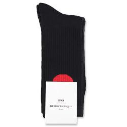 Edwin Jeans x Democratique Socks Athletique Japanese Sun Black / Fiery Red