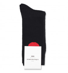 Edwin Jeans x Democratique Socks Athletique Japanese Sun Black / Fiery Red