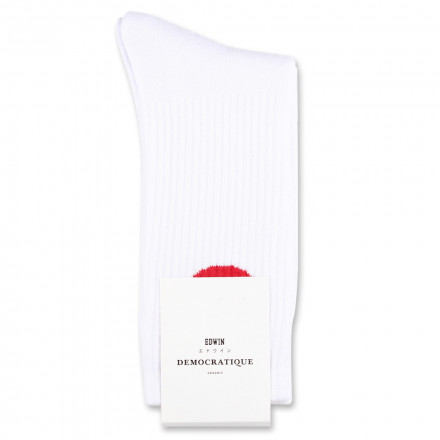 Edwin Jeans x Democratique Socks Athletique Japanese Sun White / Fiery Red