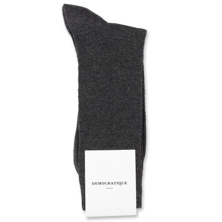 Democratique Socks Originals Champagne Pique 6-pack Charcoal Melange