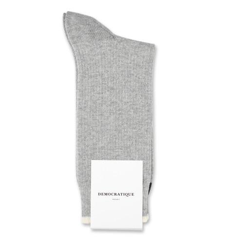 Democratique Socks Originals Fisher Knit 6-pack Light Grey Mel. / Off White / Charcoal Mel.