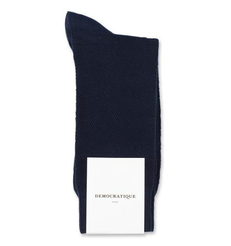 Democratique Socks Originals Champagne Pique Navy 6-pack