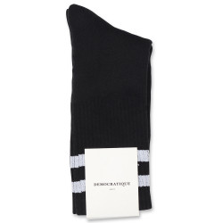 Edwin Jeans x Democratique Socks Athletique THIS IS THE LIFE 12-pack Black - Clear White