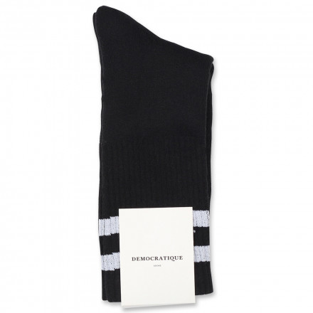 Edwin Jeans x Democratique Socks Athletique THIS IS THE LIFE Black / Clear White