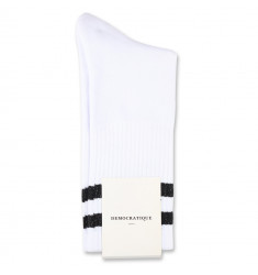 Edwin Jeans x Democratique Socks Athletique THIS IS THE LIFE Clear White Black