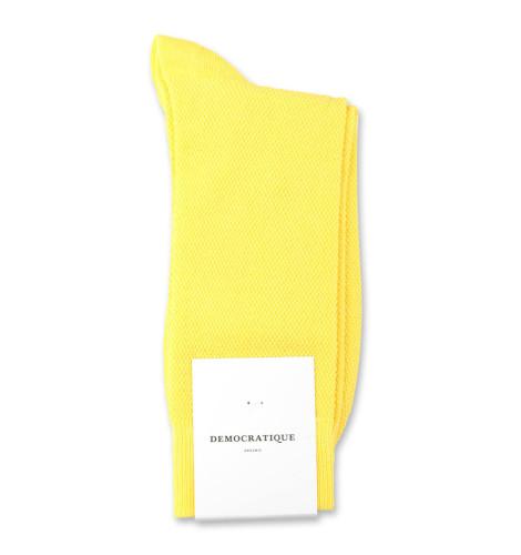 Democratique Socks Originals Champagne Pique 6-pack Bright Yellow