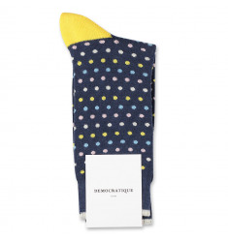 Democratique Socks Originals Polkadot Shaded Blue / Off White / Pale Pink / Palm Springs Blue / Yellow Sun