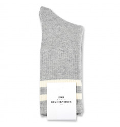 Edwin Jeans x Democratique Socks Athletique THIS IS THE LIFE 12-pack Light Grey Melange - Off White