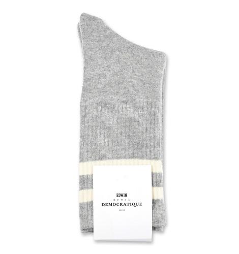 Edwin Jeans x Democratique Socks Athletique THIS IS THE LIFE 12-pack Light Grey Melange - Off White