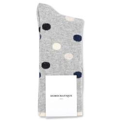 Democratique Socks Originals DotCom 6-pack Light Grey Melange - Navy Melange - Charcoal Melange - Vanilla Melange - Off White