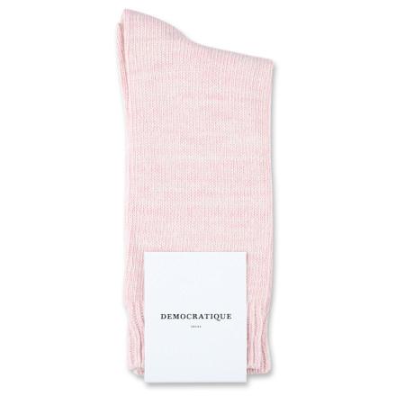 Democratique Socks Relax Chunky Flat Knit Supermelange Pale Pink / Off White