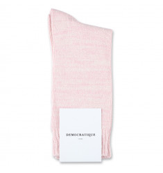 Democratique Socks Relax Chunky Flat Knit Supermelange Pale Pink / Off White
