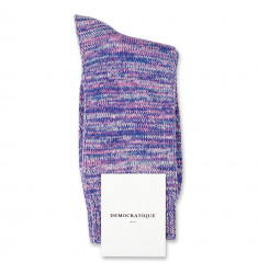 Democratique Socks Relax Chunky Flat Knit Supermelange Blue / Pink Fleur / Off White / Light Diesel